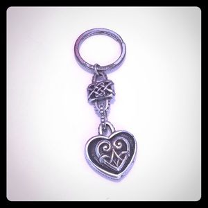 BRIGHTON HEART TWO sided keychain filigree
